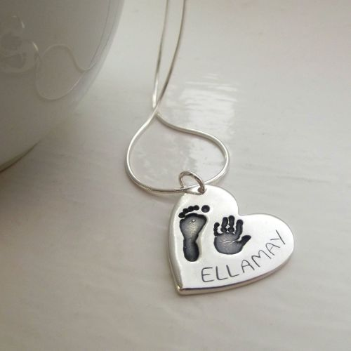 Large Handprint and Footprint Pendant