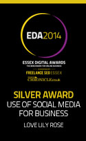 Essex Digital Awards 2014 Silver. Use of Social Media for Business