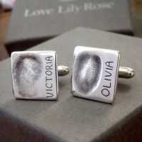 Silver Fingerprint Cufflinks