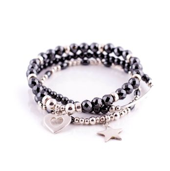 Midnight Sparkle Charm Bracelet