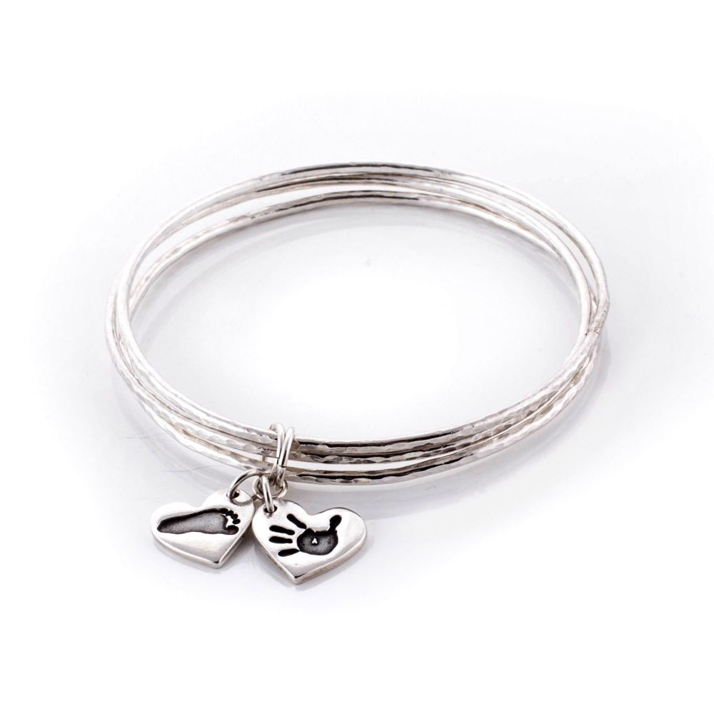 Personalised Fine Silver My Family Bangles