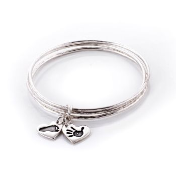 Personalised Silver My Family Bangles