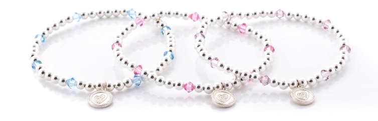 Silver and Swarovski Crystal Birthstone Bracelets
