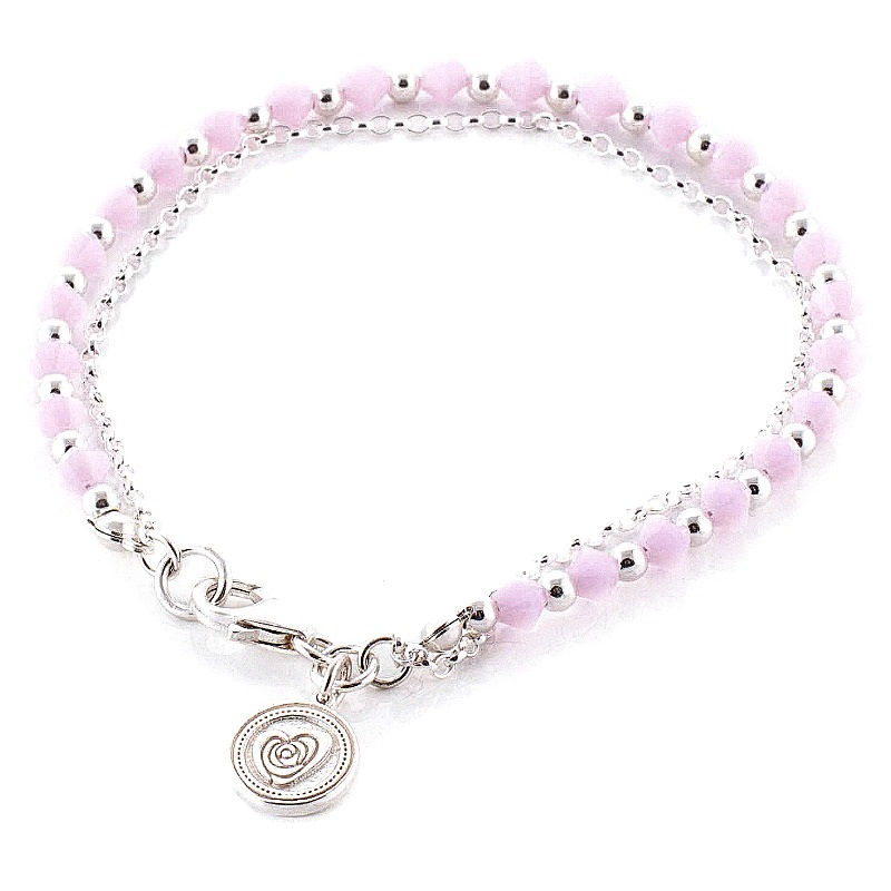 Olivia Friendship Bracelet Rose Alabaster