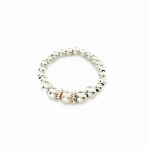 Daisy Pearl Stretch Ring