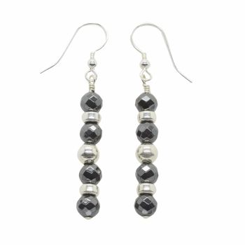 Midnight Sparkle Drop Earrings