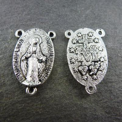 Miraculous image silver metal center 2.2 cm