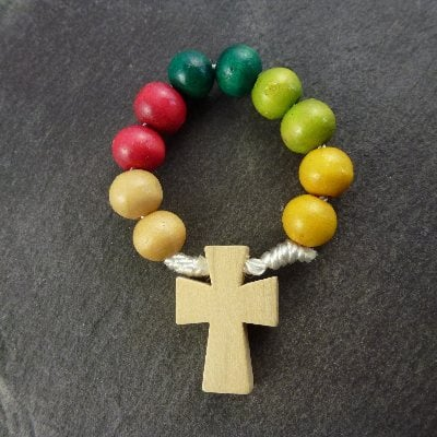 Wholesale missionary wood rosary ring