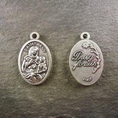 2cm St. Ann silver metal colour metal