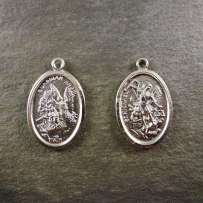 2cm Guardian angel silver metal colour metal bright finish