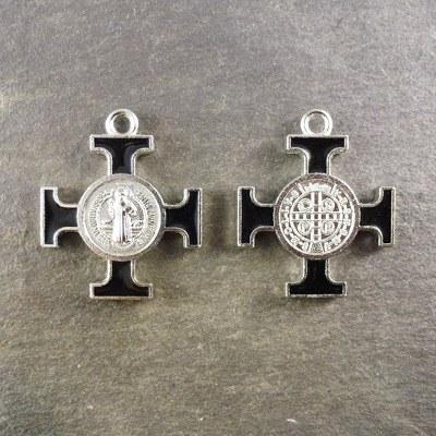 3cm black St. Benedict cross medal