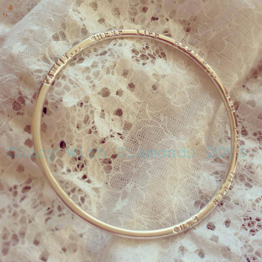 Personalised bangle in sterling silver