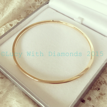 9ct yellow gold bangle solid gold bangle polished finish bangle