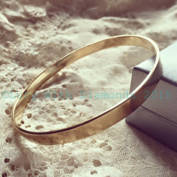 9ct yellow gold bangle polished finish solid yellow gold bangle UK hallmarked