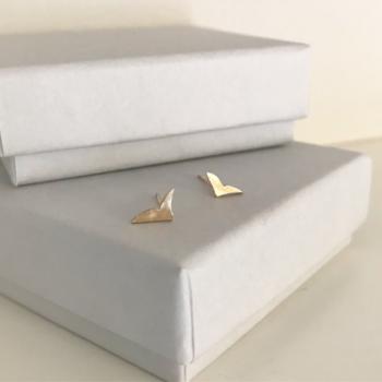 Little bird studs in 9ct yellow gold gold stud earrings