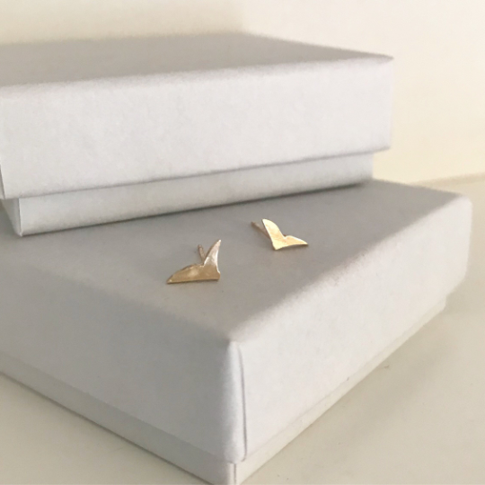 Little bird studs in 9ct yellow gold gold stud earrings