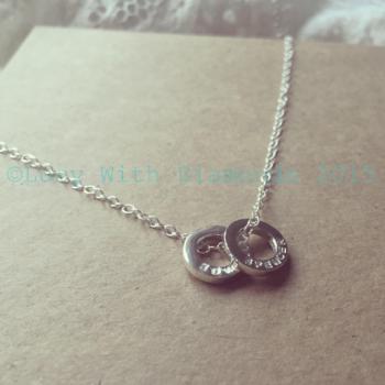 Personalised loop necklace in sterling silver