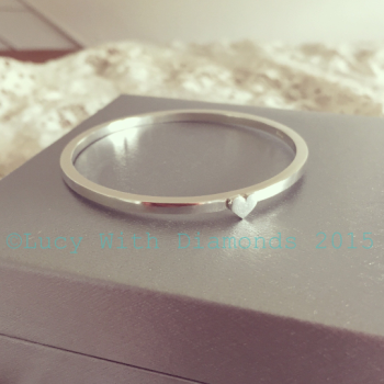 Childs heart bangle sterling silver childrens bracelet christening bangle