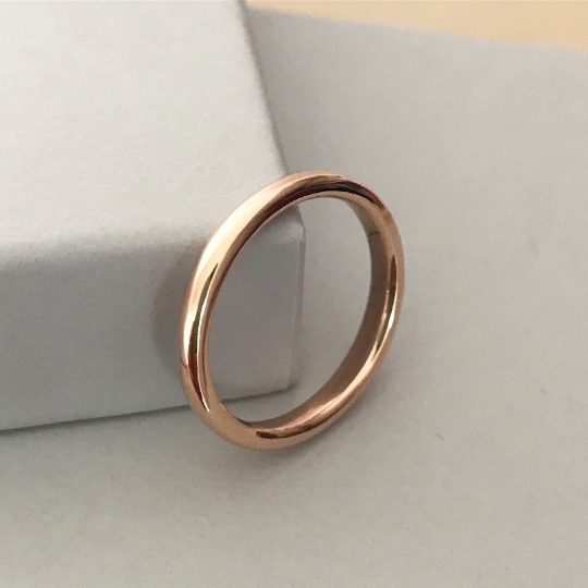 9ct Rose Gold Wedding Ring polished wedding ring