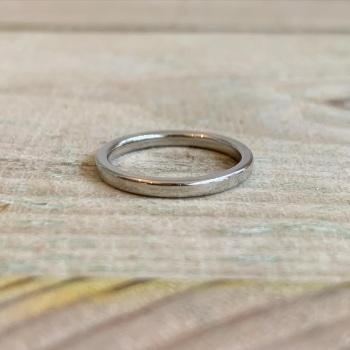 2mm Court Shaped Wedding Band Polished Finish