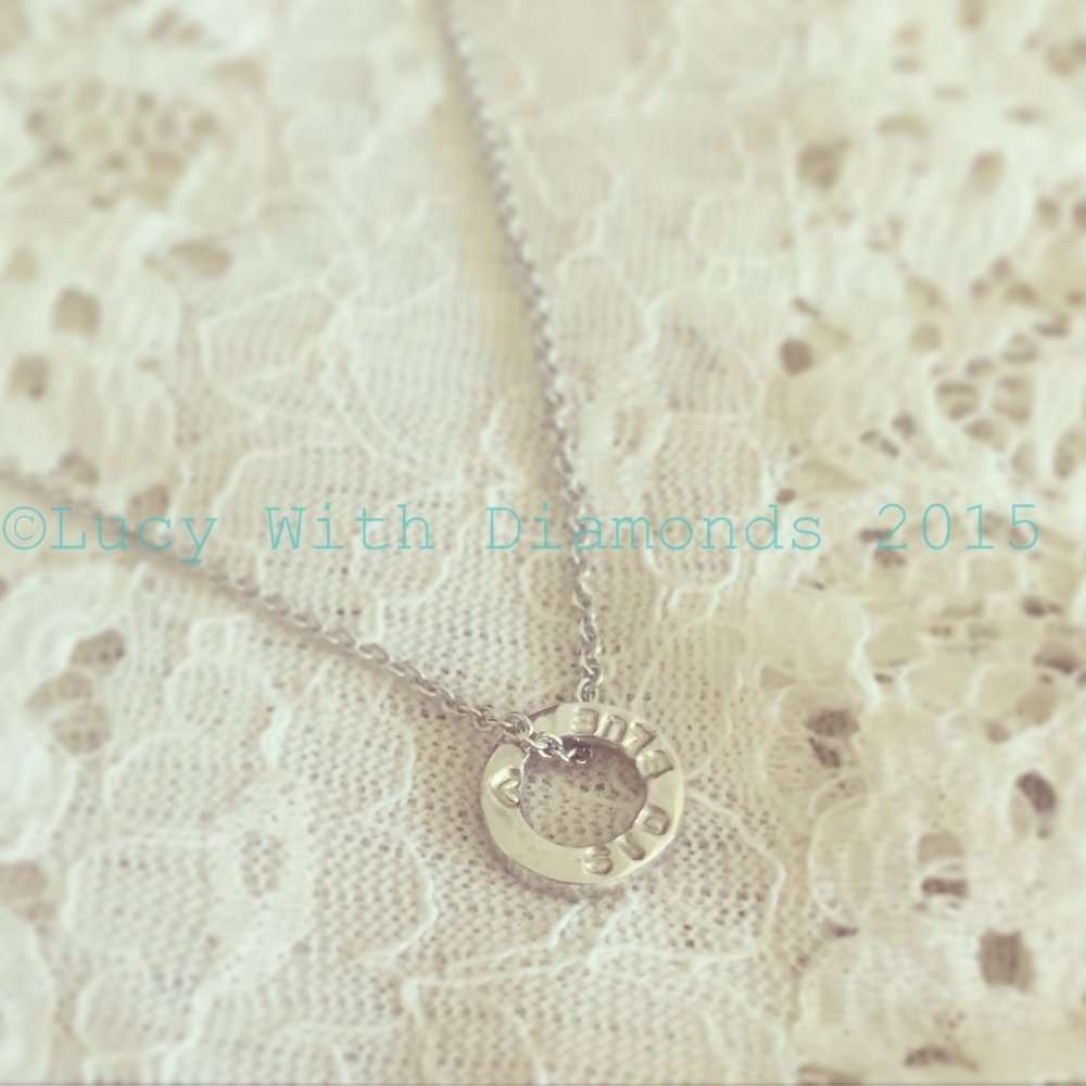 Personalised loop necklace