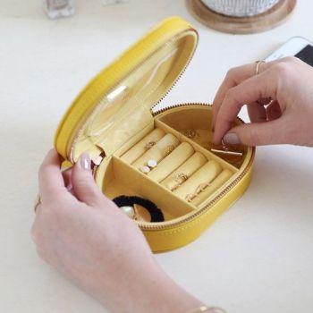 Oval yellow jewellery box