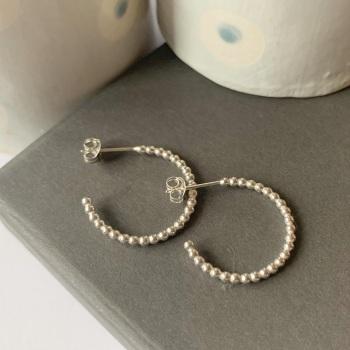Beaded hoop earrings