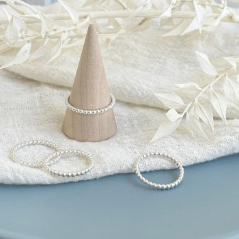 Delicate beaded stacking ring