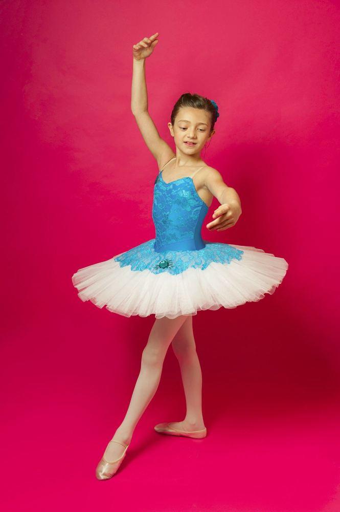 Turquoise Lace Tutu - Age 7-8