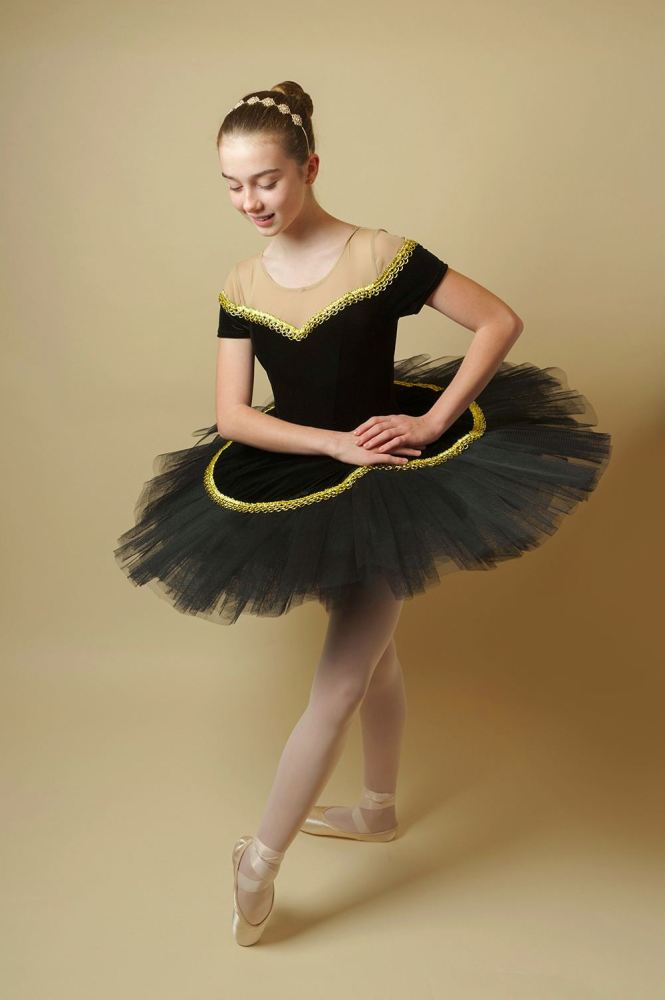 Age 11-13 - Black & Gold Princess Style Tutu for Hire