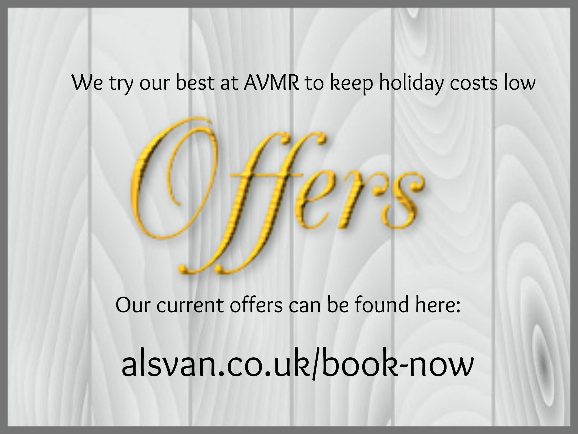 Holidays with AVMR