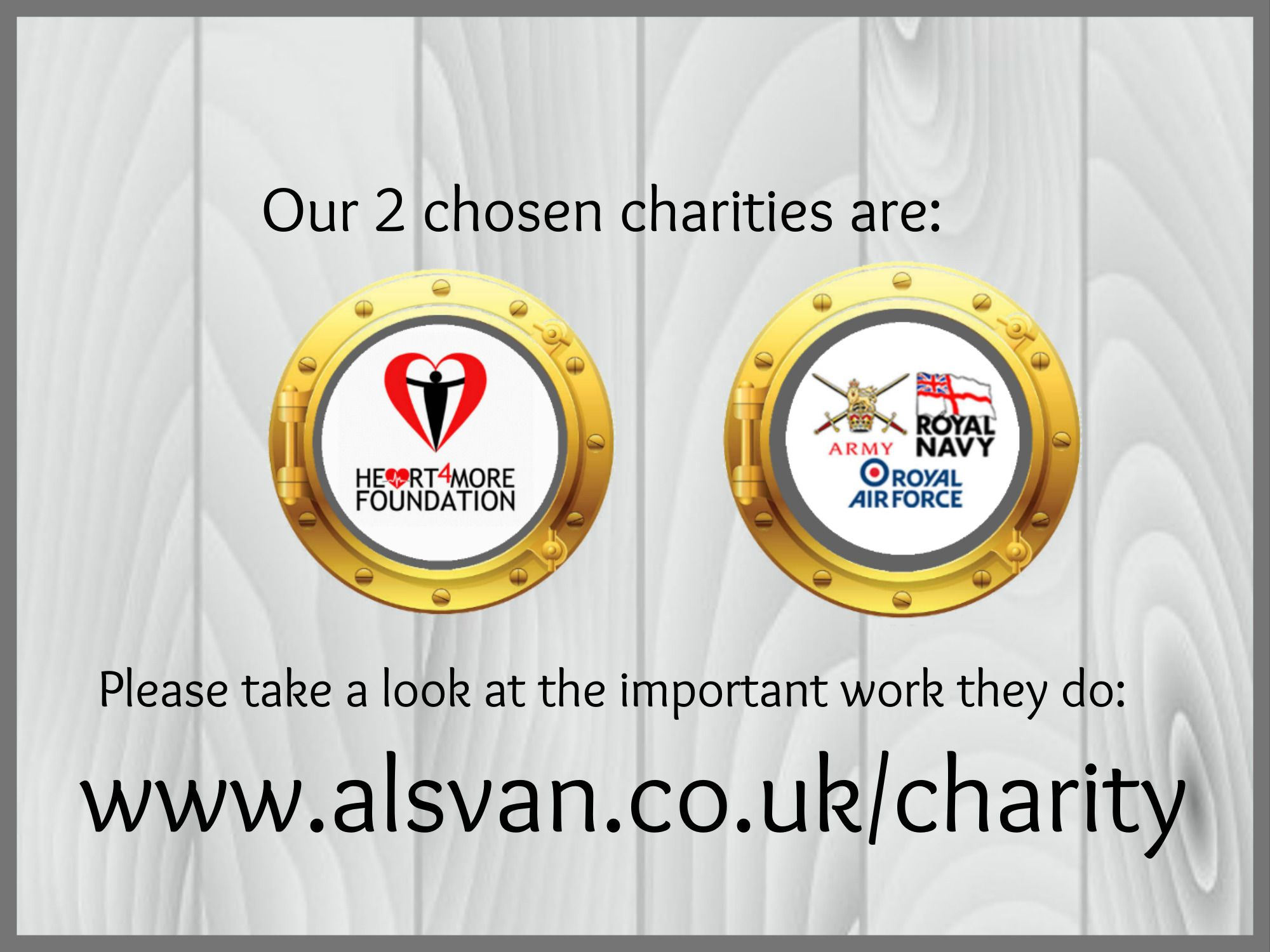 Charity support with AVMR