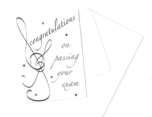 Greetings card - Exam Congratulations Black