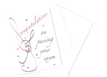 Greetings card - Exam Congratulations Pink