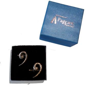 Cufflinks - Bass Clef, Pewter