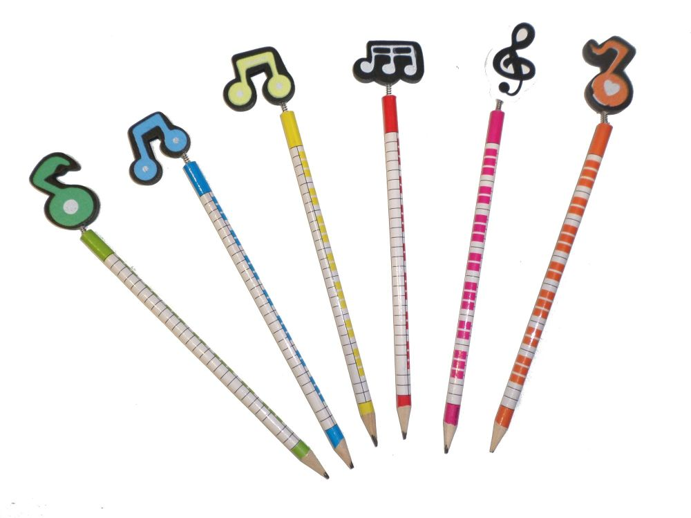 Pencil - Music note topper