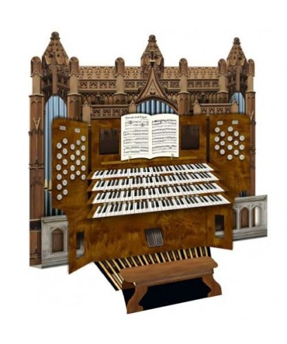 3d Greetings card - Church Organ