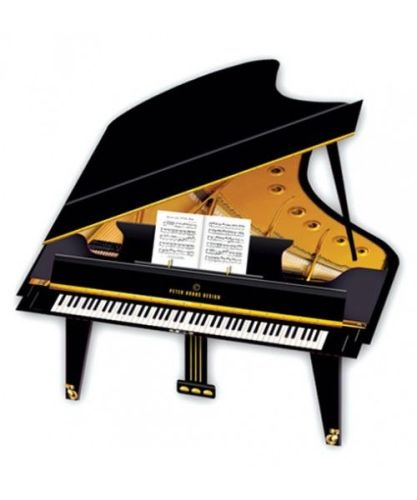 3d Greetings card - Grand Piano
