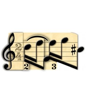3d Greetings card - Music Notes
