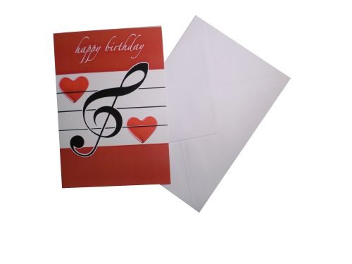Greetings card - Happy Birthday, Red