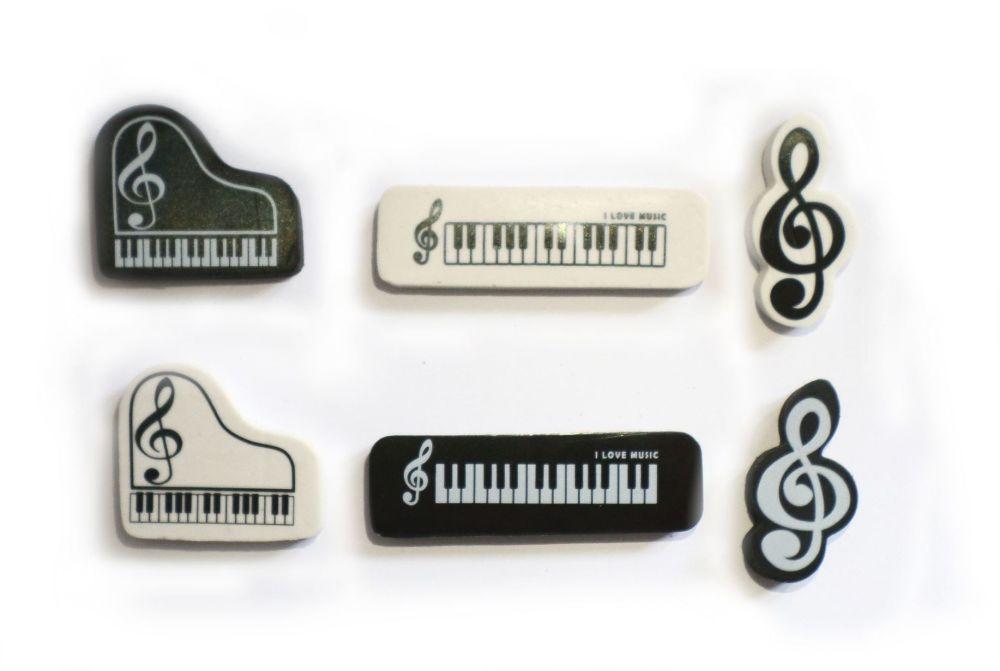 Eraser - Music note, Keyboard or Piano