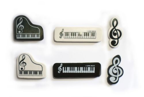 Eraser - Music note, Keyboard or Piano