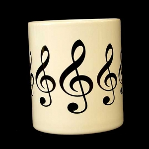 Earthenware mug - (Keyboard or Treble Clef)