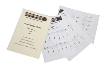 Simple fingering / note charts (Soprano, Alto, Tenor and Bass)