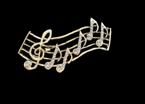 Brooch -  Music Notes