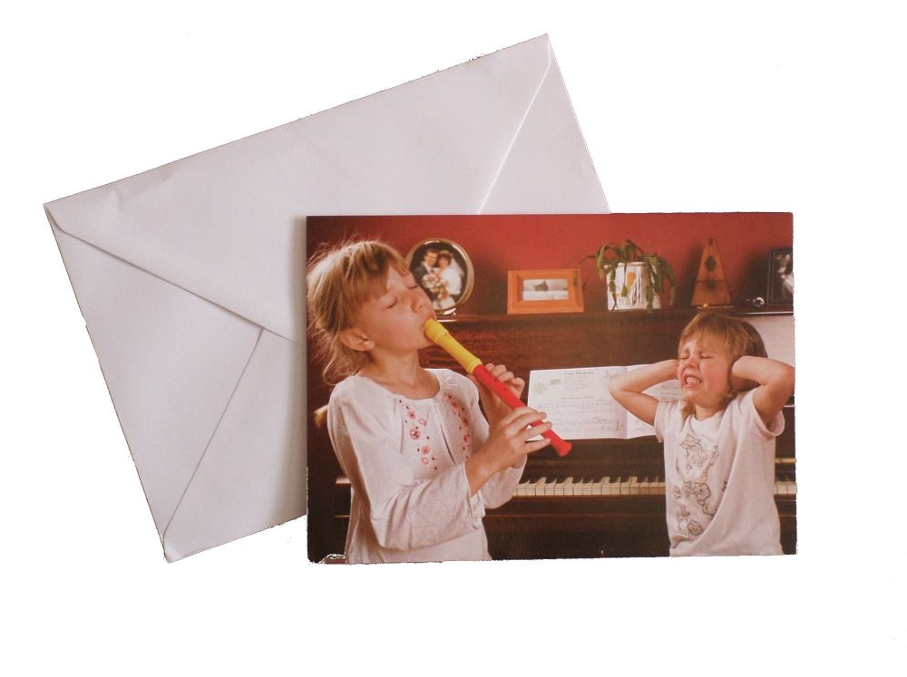 Greetings card - Recorder Girls