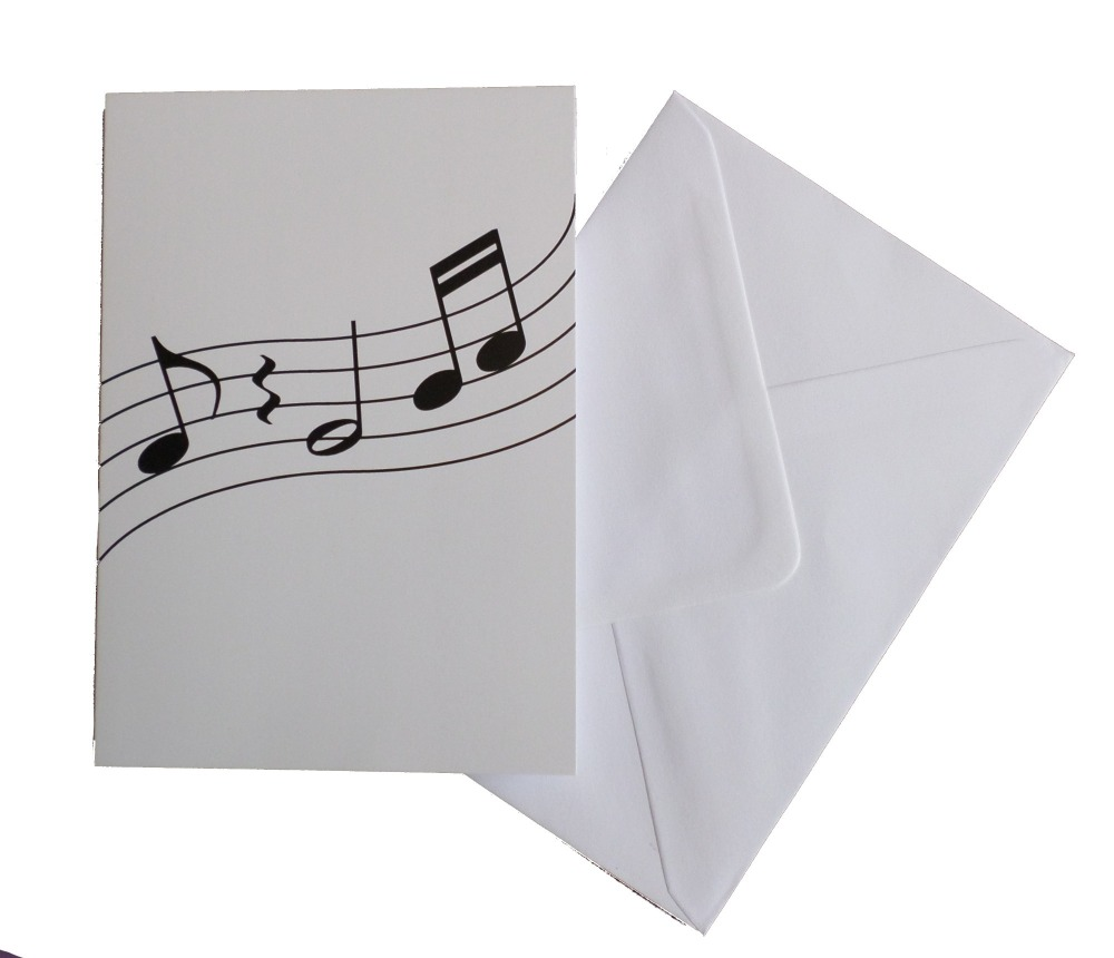 Greetings card - Wavy Notes