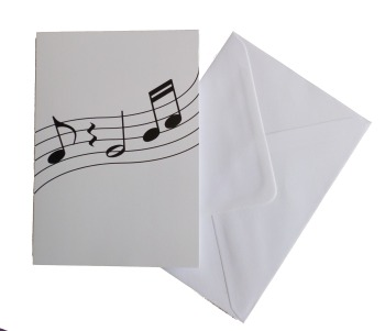 Greetings card - Wavy Notes