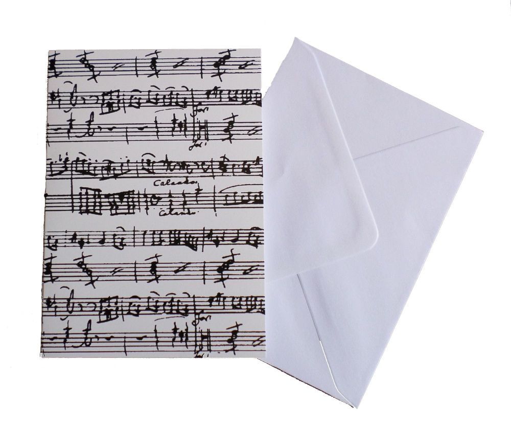 Greetings card - Manuscript