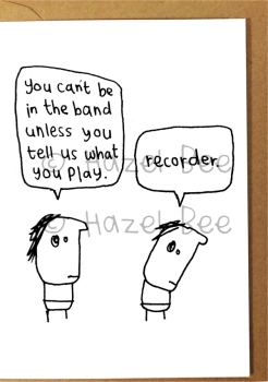 Greetings card - Recorder band